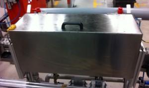 Tvättmaskin för industriella produkter i rostfritt.
